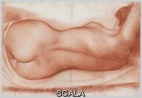 Maillol, Aristide (1861-1944) Reclining Nude. Ca. 1931