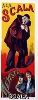 ******** Reproduction of a poster advertising 'Mevisto', at La Scala - Affiche pour les representation du chanteur Jules Mevisto (Mevisto l'aine) (1857-1918), a la Scala, Paris, 1891 - Illustration de Maximilien Luce (1858-1941)- Extrait de