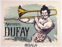 ******** Reproduction of a poster advertising 'Marguerite Dufay in her repertoire' - Affiche pour la chanteuse Marguerite Dufay dans son repertoire, 1894 - Illustration de Louis Anquetin (1861-1932) - Extrait de