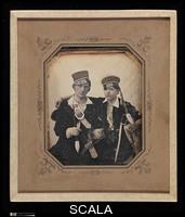 Anonimo sec. XIX [Franz Friedrich (ne Melnik Boehmen) and Friend]. 1840s. United States