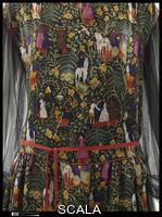 Poiret, Paul (1879-1944) 'Bois de Boulogne', 1919. Textile designed by Raoul Dufy (1877-1953) - detail