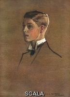 ******** H.R.H. The Prince of Wales, later King Edward VIII and then Duke of Windsor (1894-1972).  A portrait sketch done by Lavery for a larger family group painting which was exhibited at the Royal Academy in 1913.. 1914