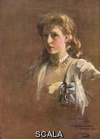 ******** H.R.H. Princess Mary, later Countess of Harewood (1897-1965), daughter of King George V and Queen Mary.  A portrait sketch done by Lavery in 1913 for a group painting exhibited at the Royal Academy that year.  Lent to The Sphere for reproduction in facsim
