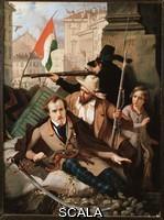 Verazzi, Baldassare (1819-1886) Risorgimento : les cinq journees de Milan (Cinque giornate di Milano) (18-22 mars 1848) : il s'agit de l'un des premieres episodes des Revolutions de 1848 (faisant partie de la Premiere guerre d'independance d'Italie) qui vit le soulevement de la population milanaise insurgee contre l'occupation autrichienne de Josef Radetzky.