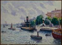 Luce, Maximilien (1858-1941) The harbor of Rotterdam. Ca. 1909 ().