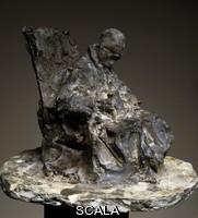 Rosso, Medardo (1858-1928) Invalid in Hospital, 1889, sculpture in patinated plaster, 23.5 cm. Italy, 19th century.