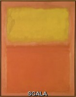 Rothko, Mark (1903-1970) Orange and Yellow. 1956. Oil on canvas, support: 91 x 71 inches (231.14 x 180.34 cm); framed: 93 1/2 x 73 1/2 x 3 inches (237.49 x 186.69 x 7.62 cm). Gift of Seymour H. Knox, Jr., 1956 (K1956:8). Photograph by Tom Loonan.