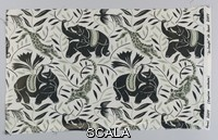 ******** Fragment, La Jungle, ca. 1914. Designed by Raoul Dufy (French, 1877-1953). Screen-printed cotton plain weave. H x W: 38.7 x 63.5 cm (15 1/4 x 25 in.). Gift of Mary Halle (1989-74-1). Photo © Smithsonian Institution.