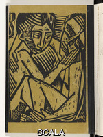 Pechstein, Max (1881-1955) Consolation (Tröstung), back cover from the deluxe edition of 'Almanach auf das Jahr 1920', 1920 (print executed 1919)