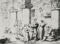 ******** The Mother of the Redeemer being venerated at the Pillotta Arches on Easter Sunday, Rome, Italy, from an 1831 print by Bartolomeo Pinelli, from L'Illustrazione Italiana, Year XL, No 12, March 23, 1913.