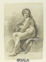 Zuccarelli, Francesco (1702-1788) Seated female nude, 1702-1788