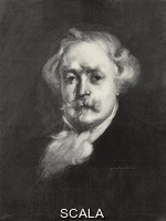 ******** Portrait of Edmond de Goncourt (1822-1896), French writer, after a lithograph by Eugene Carriere, illustration from L'Illustration, No 2787, July 25, 1896.