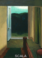 Hopper, Edward (1882-1967) (Stairway). (1949). Oil on wood. Overall: 16 x 11 7/8in. (40.6 x 30.2 cm). Josephine N. Hopper Bequest. Inv. N.: 70.1265
