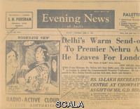 ******** Thermafax of a cartoon referencing the exhibition 'The Family of Man' published in the 'Evening News of India', June 21, 1956