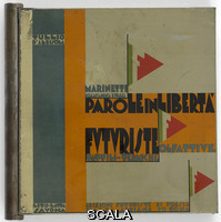 D'Albisola, Tullio (1899-1971) Copertina di 'Parole in Liberta' Futuriste, Tattili-Termiche Olfattive'. Roma, Edizioni Futuriste di Poesia, 1934 (stampe realizzate nel 1932)