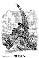 ******** Eiffel Tower, conceptual artwork.