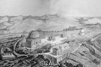 ******** Nice observatory, France. 19th-century artwork of the observatory founded in 1881 on the summit of Mount Gros, near Nice, France, by banker Raphael Bischoffsheim. The telescope it housed (a 77-centimetre refractor) was the first to be built at altitude (372 metres above sea level), and was one of the largest in the world at the time. The main dome (centre left, the Bischoffsheim cupola) is 24 metres across (96 tons), designed by Gustave Eiffel to use water flotation. Other buildings (with work by the architect Charles Garnier) include a smaller dome (upper right), and the main buildings on the southern slopes (lower centre).
