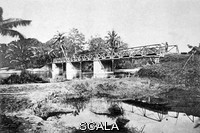 ******** Bridge by Gustave Eiffel. 1885 image of a bridge designed and built by the French civil engineer and architect Alexandre Gustave Eiffel (1832-1923), outside Ho Chi Minh City (Saigon), Vietnam. Eiffel is famous for designing and building the Eiffel Tower in Paris, France.