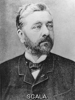 ******** Alexandre Gustave Eiffel (1832-1923), French engineer. Eiffel was born at Dijon, and became one of France's most prolific engineers. He was particularly famed for his bridge designs, including a 160-metre span railway bridge across the River Duoro in Portugal. His most famous work is the Eiffel Tower at the Champs-de-Mars in Paris. This was erected for the 1889 Paris Exhibition at a cost of #260, 000. The open- lattice steel tower stands 300 metres high, and was the tallest man-made construction in the world until 1930. Eiffel also designed the framework for the Statue of Liberty in New York, and built the World's first aerodynamics laboratory.
