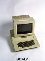 ******** Apple II computer and monitor. This was released in 1977 and included a number of revolutionary features, including its plastic casing and the ability to display colour on a monitor. It was designed and built by the co-founders of the Apple Computer Inc. company, Steve Wozniak and Steve Jobs. It is on display at the Computer History Museum, USA. The museum's collection includes over 3000 artefacts from 1945 to 1990. Established in 1996, the museum preserves and returns to working order, computers that have had a significant historical impact. The museum is due to be relocated, becoming part of the NASA Research Park, California, USA, in 2005.