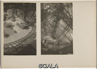 Albers, Josef (1888-1976) Paris, Eiffel Tower, August 1929/1932. Gelatin silver prints mounted to board. Overall 11 5/8 × 16 3/8
