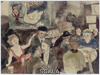 Demuth, Charles (1883-1935) At 'The Golden Swan', Sometimes Called the 'Hell Hole'. Signed and dated 'C.Demuth 1919' (lower center) - inscribed with title (lower right). Watercolor and pencil on paper, 8 x 10½ in. (20.3 x 26.7 cm.)