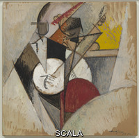 Gleizes, Albert (1881-1953) Composition for 'Jazz', 1915. Gouache on cardboard, mounted on Masonite. 28 3/4 x 28 3/4 inches (73 x 73 cm). Solomon R. Guggenheim Founding Collection. 38.817