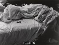 Cunningham, Imogen (1883-1976) The Unmade Bed, 1958. Gelatin silver print, 7 7/16 × 9 9/16