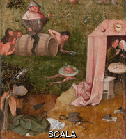 Bosch, Hieronymus (1450 ca.-1516) Allegory of Intemperance. Allegory of Gluttony and Lust