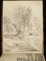 Constable, John (1776-1837) Constable's sketchbook, England, 1814. Pencil, 7.9 x 10.8 cm. Given by Isabel Constable, daughter of the artist. Inv.: 1259-1888