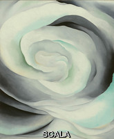 O'Keeffe, Georgia (1887-1986) Abstraction White Rose, 1927. Oil on canvas, 36 x 30 inches. Gift of the Burnett Foundation and The Georgia O'Keeffe Foundation (1997.4.2). © Georgia O'Keeffe Museum