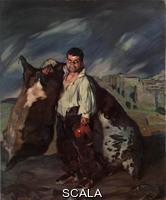 Zuloaga, Ignacio (1870-1945) Dwarf Gregorio. Spain, 1908. Oil on canvas, 187x154 cm