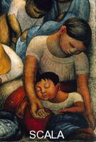 Rivera, Diego (1886-1957) Il sonno - La notte dei poveri (La Noche de los Pobres) - p. (madre e figlio che dormono)