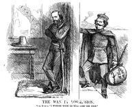 ******** Victor Emmanuel II knocking on the door of Naples, 1861.