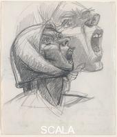 Gonzalez, Julio (1876-1942) Study for Head of Montserrat Crying, No. 2, 1941