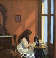 Hopper, Edward (1882-1967) Girl at a Sewing Machine, c.1921