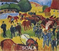 Pechstein, Max (1881-1955) Horse Fair, 1910
