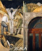 Rivera, Diego (1886-1957) L'uscita dalla miniera (Salida de la Mina), 1923.