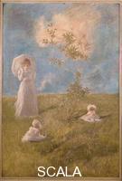 Previati, Gaetano (1852-1920) Peace and Quiet