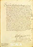 ******** Trattati commerciali, grafici, merci autografato da Elisabetta I