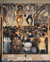Rivera, Diego (1886-1957) Il giorno dei Morti - Festa nella strada (Dia de muertos, La fiesta en la calle). 1923-24.