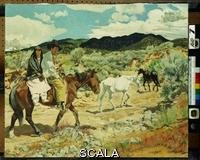 ******** Ufer, Walter (1876-1936). His Wealth. Walter Ufer (1876-1936). Oil on canvas. 63.5 x 76.2cm.