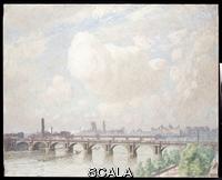 ******** Claus, Emile (1849-1924). Waterloo Bridge. Emile Claus (1849-1924). Oil on canvas. Painted in July 1916. 102 x 128cm.