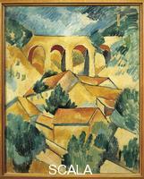 Braque, Georges (1882-1963) Viaduc a L'Estaque (Viaduct at L'Estaque), 1908