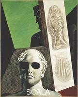 De Chirico, Giorgio (1888-1978) Portrait of Guillaume Apollinaire (born Wilhelm Albert Wlodzimierz Apolinary Kostrowicki, Rome, 1880 - Paris, 1918), French poet, 1914