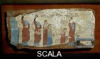 Greek art Scene of Sacrifice, c. 540 b.C., from Pitsa