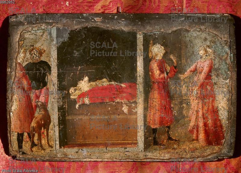 Masaccio (1401-1428) Storia di S. Giuliano, predella del trittico Carnesecchi, 1423-25