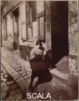 Atget, Eugene (1857-1927) La Villette, fille publique faisant le quart, 19e Avril 1921