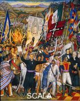 O'Gorman, Juan (1905-1982) Panel of the Independence - d. (Father Hidalgo), 1960-61.