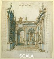 Cigoli, Ludovico (1559-1613) Arco di trionfo per il matrimonio di Ferdinando I e Cristina di Lorena n. 1797 Orn.
